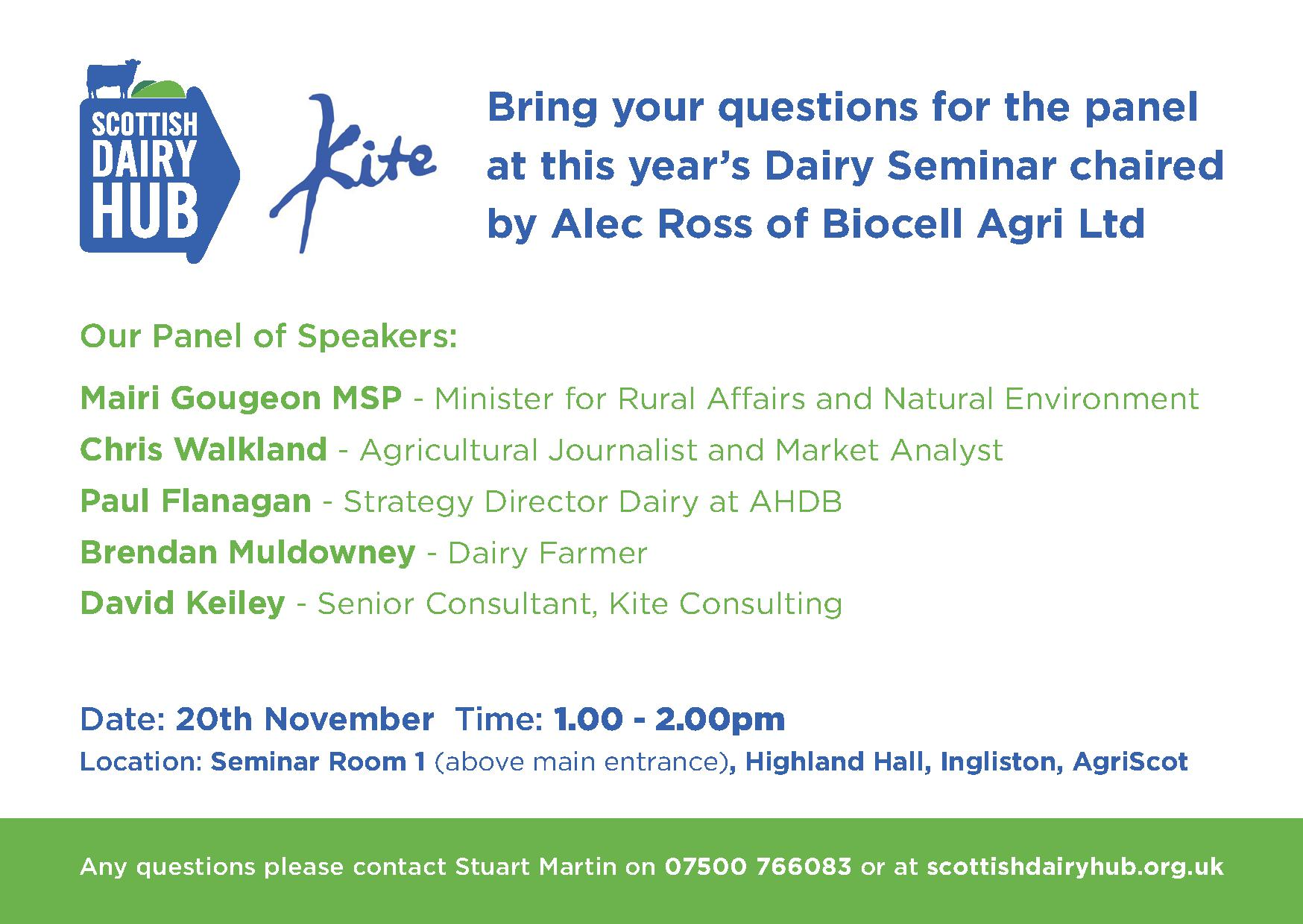 PROBING QUESTIONS PLANNED FOR AGRISCOT'S DAIRY SEMINAR