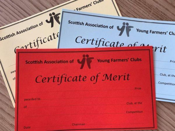 SAYFC Merit Certificates